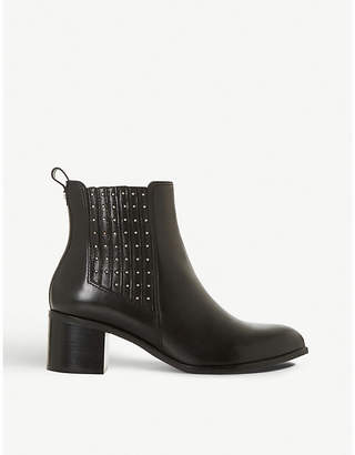 Dune Plaza stud-embellished leather Chelsea boots