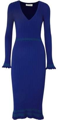 Altuzarra Isolde Ribbed-Knit Midi Dress