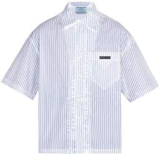 Prada Short Sleeved Striped Shirt - Mens - White Multi