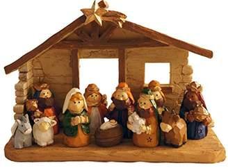 Mini A Ture Miniature Kids Christmas Nativity Scene with Creche