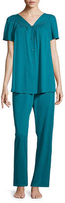 Miss Elaine COLLETTE BY  Short Sleeve Pajama Set