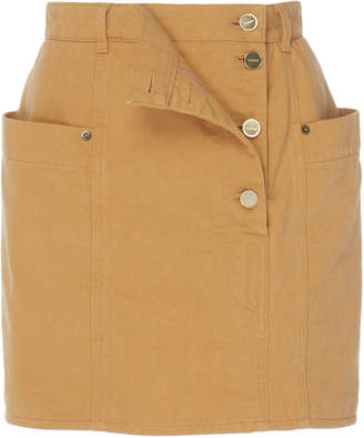 Jacquemus Double-Layer Button-Front Mini Skirt