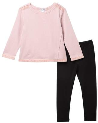 935af8e9cc5aa Splendid Velvet Mixed Media Sweatshirt & Leggings (Toddler Girls)