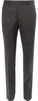 HUGO BOSS Genesis Slim-Fit Virgin Wool-Flannel Trousers - Men - Charcoal