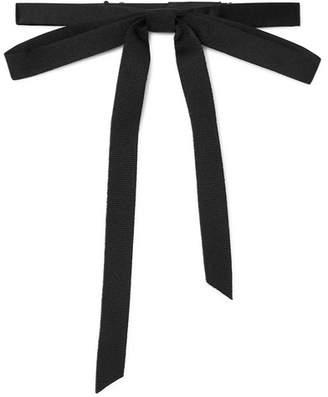 Gucci Pre-Tied Silk-Grosgrain Bow Tie - Men - Black