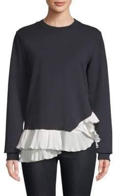 Clu Pleated Knit Sweatshirt