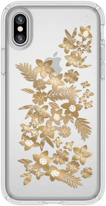 Speck Shimmer Metallic Floral Transparent iPhone X & Xs Case