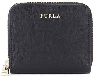 Furla Babylon Small Black Saffiano Leather Wallet