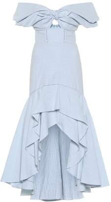 Jonathan Simkhai Checked stretch cotton midi dress