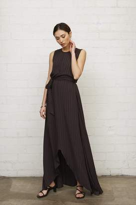 Rachel Pally Shadow Stripe Nikka Dress - Faded Black