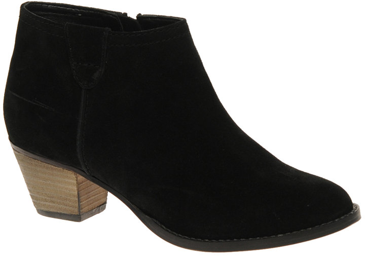 ASOS AUGUST Suede Ankle Boots with Mid Heel