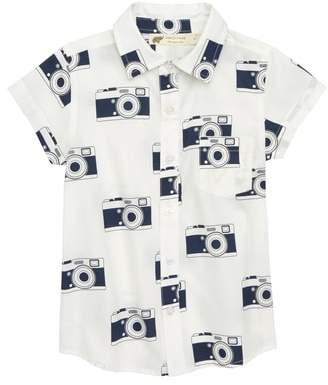 MONICA + Andy Oh Snap Organic Cotton Woven Shirt