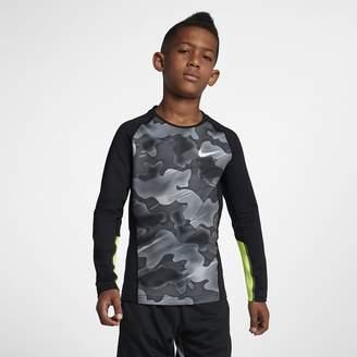 Nike Pro Warm Big Kids' (Boys') Long-Sleeve Training Top