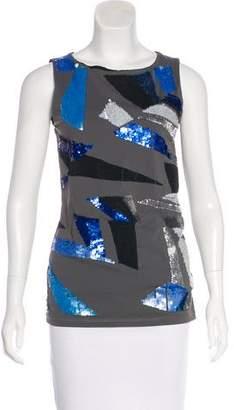 Nicole Miller Sleeveless Embellished Top