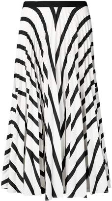 Vanessa Bruno striped pleated skirt