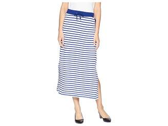 Lauren Ralph Lauren Striped French Terry Maxi Skirt Women's Skirt