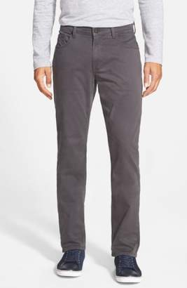 Paige Normandie Slim Straight Leg Twill Pants