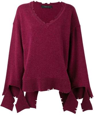 Federica Tosi v-neck loose knit sweater
