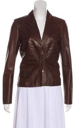 Prada Structured Leather Jacket