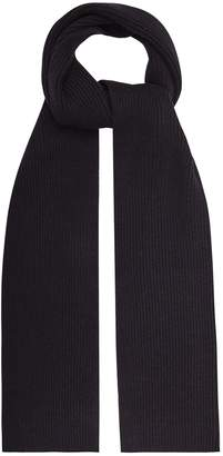 Reiss RANDOLF RIBBED KNITTED SCARF Navy