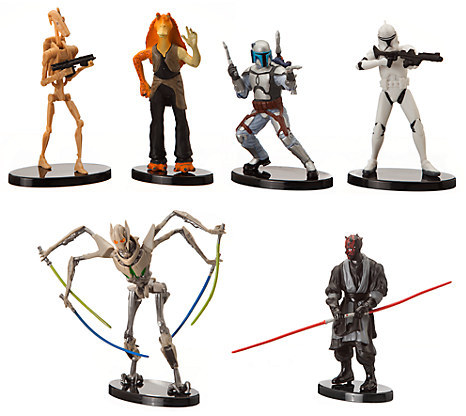 Star Wars Collectible Figures - Prequel Set