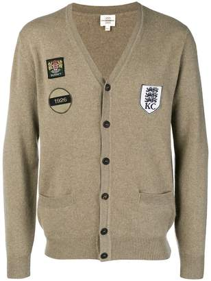 Kent & Curwen patch-work fitted cardigan