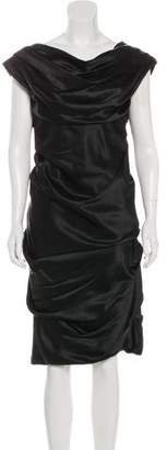 Devi Kroell Silk Ruched Dress