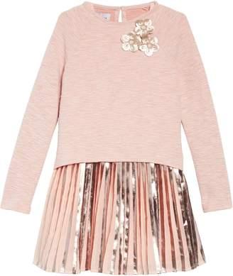 Pippa & Julie Pleated Dress & Sweater Set
