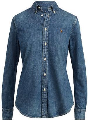 Polo Ralph Lauren Custom-Fit Denim Shirt $125 thestylecure.com
