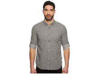 John Varvatos Button Down Long Sleeve Roll-Up w/ Single Pocket W530U1B Men's Clothing