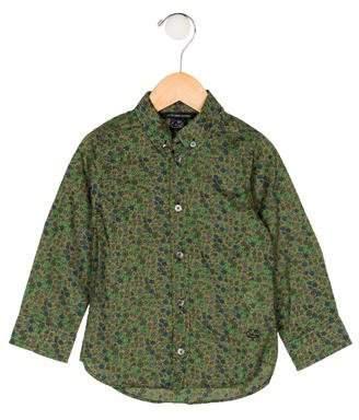 Little Marc Jacobs Boys' Floral Print Shirt