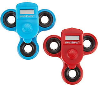 QVC Spin2Win S/2 Fidget Spinners w/ PerformanceTrackers
