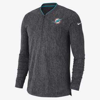 Nike Coach (NFL Dolphins) Men's Half-Zip Long Sleeve Top