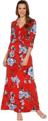 G.I.L.I. Got It Love It G.I.L.I. Regular 3/4 Sleeve Twist Front Maxi Dress