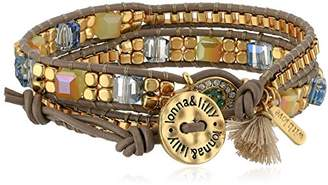 lonna & lilly Women's Gold-Tone and Wrap Bracelet