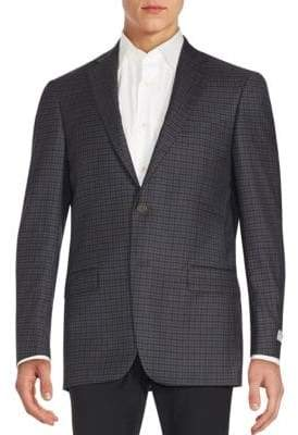 Hart Schaffner Marx Regular-Fit Plaid Wool Blazer