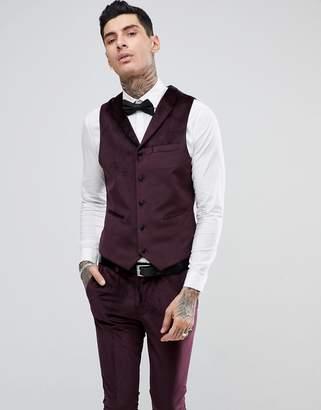 RUDIE Rudie Slim Fit Velvet Tuxedo Vest
