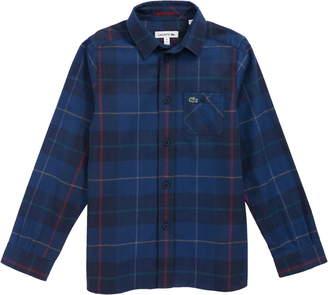 Lacoste Plaid Flannel Woven Shirt