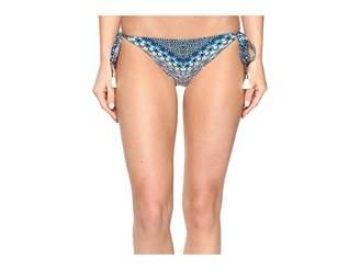 Lucky Brand Nomad Chevron Reversible Side Tie Bottom Women's Swimwear