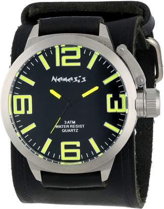 Nemesis Men's HST022Y Oversized Collection Yellow/ on Embossed Watch