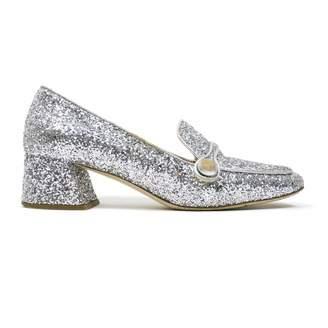 ed316e8094d1 Silver Glitter Flats - ShopStyle UK