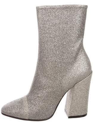 Dries Van Noten Glitter Round-Toe Ankle Boots