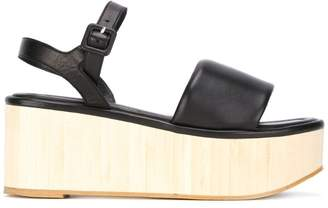 Robert Clergerie platform buckled sandals