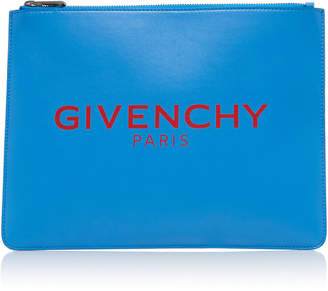 Givenchy Large Leather Zip Pouch