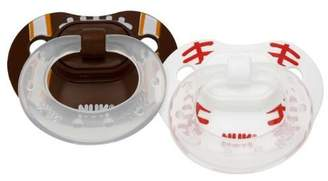 NUK BPA FREE Classic Silicone Sports Pacifier Football & Baseball - Size 1 by