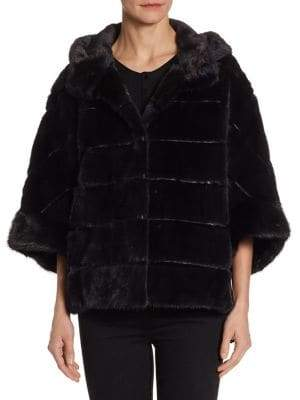 The Fur Salon Hooded Mink Fur Jacket
