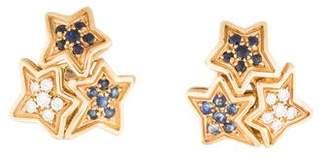 Gioia 18K Sapphire & Diamond Star Earrings