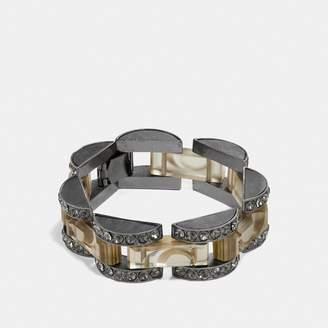 Coach Cut Glass Link Bracelet