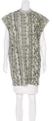 Giamba Sleeveless Printed Sweatshirt