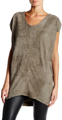 Muubaa Shelby Genuine Suede T-Shirt Tunic $440 thestylecure.com